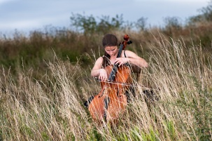 cellist on astray - inside nature